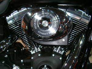 Photo of a Chrome Harley Davidson Engine