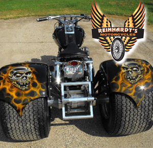 Photo of a Harley Davidson Frankenstein Kit with Reinhardt's Logo