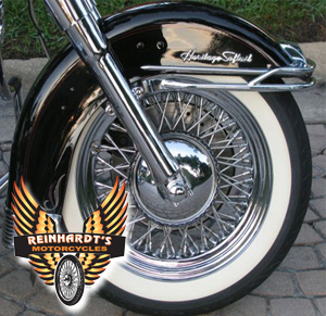 Photo of a Harley Davidson retro tire